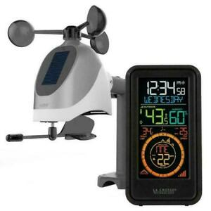 New La Crosse S81120 Wireless Weather Station with TemperatureWind amp; Humidity