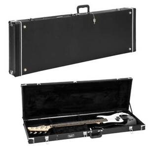 Electric Bass Guitar Hardshell Case Wood Carrying Portable Box Square Waterproof $89.90