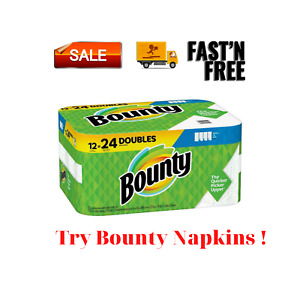 NEW Bounty Select A Size White Paper Towels 12 Double Rolls = 24 Regular Rolls. $31.94
