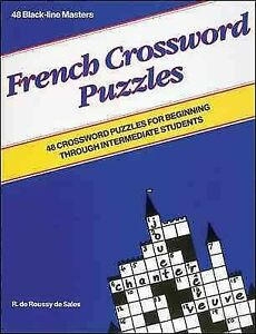 French Crossword Puzzles Blackline Paperback by De Sales R. Like New Used... $67.30