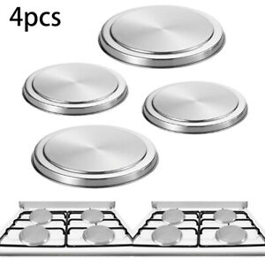 Stainless Steel Hob Covers Metal Ring Electric Cooker Hob Protector Set Kitchen