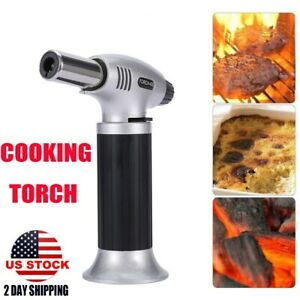 Blow Lighter Kitchen Culinary Torch Chef Cooking Torch Refillable Professional
