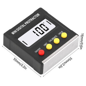 Mini Electronic Digital LCD Protractor Angle Finder Level Box Inclinometer $15.01