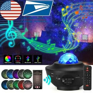 GALAXY360PRO PROJECTOR Music Starry Water Wave LED Projector Light Bluetooth USA $38.64