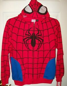 Spiderman Spider Man Spider Man Red Hoodie Jacket Full Zip Mens Size Large NWT $21.74