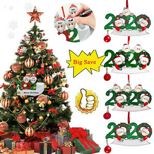 2020 Xmas Family Santa Christmas Tree Hanging Ornaments Decor DIY Personalized