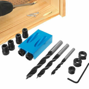 15 Degree Pocket Hole Screw Jig Woodworking Angle Drilling Guide Angle Tool Kits $12.99