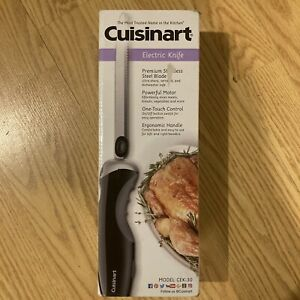 Cuisinart Electric Knife CEK 30 Black New In Box Stainless Steel Blade