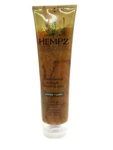 Hempz Fusions Sandalwood And Apple Herbal Body Scrub With Herbal Extracts 9 oz