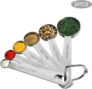 Measuring Spoons Stainless Steel for Dry or Liquid set of 6