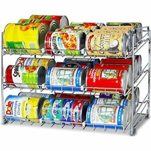 SimpleHouseware Stackable Can Rack Organizer Chrome Kitchen amp;amp Dining