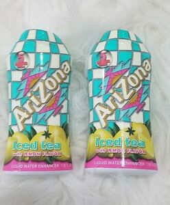 LOT OF 2 ARIZONA ICED TEA WITH LEMON FLAVOR LIQUID WATER ENHANCER