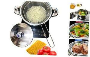 Stainless Steel Tri Ply Base Pasta CookerMultipots With Draining Steamer Basket