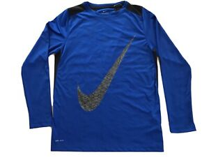 Nike Dry Fit T Shirt Size XL Blue Long Sleeve $12.50