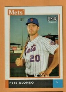 2020 PETE ALONSO TOPPS ARCHIVES SNAPSHOTS CARD HOT NEW METS MINT