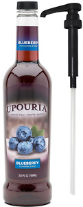Upouria Blueberry Flavored Syrup 100% Vegan and Gluten Free 750ml bottle Pum $27.49