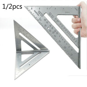 Quality Protractor Miter Triangle ruler 1 2× Aluminium Alloy Protractor C $14.49