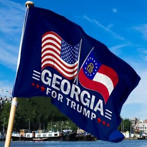 Georgia For Trump 3D Printed Polyester Sleeve Flag
