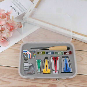 60x Quilting Awl and Binder Foot Case Tools amp; Bias Tape Maker Kit Set For Sewing $5.99