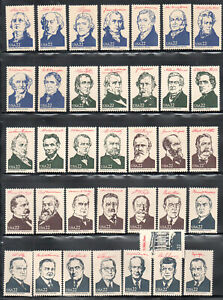 SC#2216 2219 Ameripex 86 Presidents of the United States Singles MNH