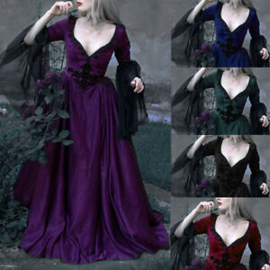 Victorian Costume Renaissance Long Dress Women Ball Gown Dress amp;Bustle Costumes $35.19