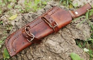 Custom Hand Made Pure Leather Sheath Holster For Fixed Blade Knife Or Tool S20
