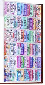 Colorful Floral Bible Tabs Laminated W Matte Film Cute For Women amp; Girl 90 Index