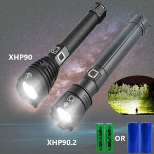 990000lm XHP90.2 XHP90 Tactical LED Flashlight Torch USB Rechargeable Lamp Zoom $31.34