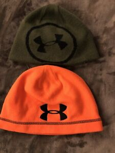 2 Under Armour Hats Kids Size S M Good Condition $2.99