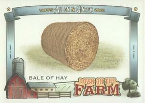 2020 Topps Allen amp; Ginter Baseball Down on the Farm #DFB Bale of Hay $1.25