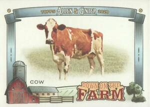 2020 Topps Allen amp; Ginter Baseball Down on the Farm #DFC Cow $1.25