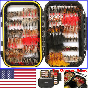 FISHINGSIR FLY FISHING FLIES Assortment Dry Wet Nymph Bass amp; Trout FISHING LURES