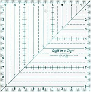 quilt in a day 9 1 2 inch by 9 1 2 inch square up ruler $33.38