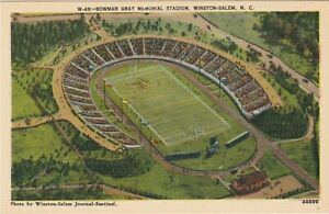 WINSTON SALEM BOWMAN GRAY Stadium POSTCARD football NASCAR racetrack State U