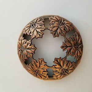 Yankee Candle Illuma Lid Topper Fall Leaves Large Pre Owned Gloss Copper $11.99