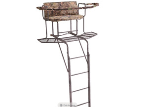 Deer Hunting 20#x27; 2 man Double Rail Ladder Tree Stand with Hunting Blind NEW