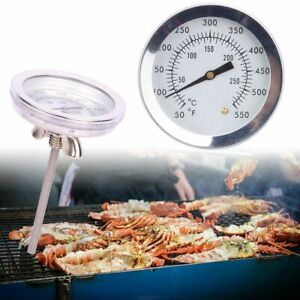 Stainless Steel Temperature Gauge Thermometer for Barbecue BBQ Grill Smoker Pit