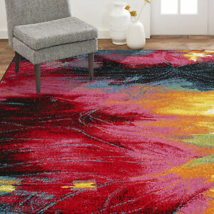 Area Rug Runner Floor Carpet Indoor Abstract Modern Contemporary Living Room 5x7 $66.09