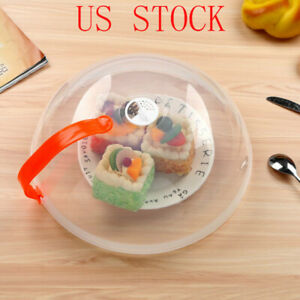 Safe Microwave Removable Food Plate Cover Anti Splatter Lid w Vents Handle 27cm