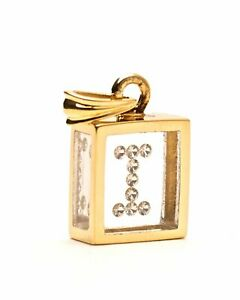 Incogem Floating Diamond Pendant: 14K Yellow Gold A Z