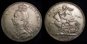 GREAT BRITAIN 1889 Silver Crown VF $109.95