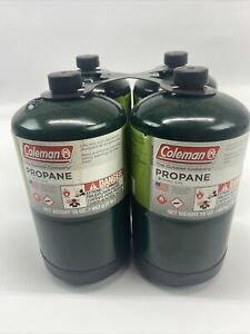 4 Pack Coleman Propane Cylinder 16 oz Camping Stove Portable Small Grill Heat