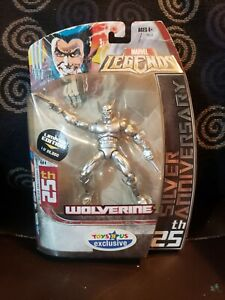 Marvel Legends Toys R Us Exclusive SILVER WOLVERINE 25th Anniversary Limited $24.99