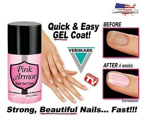 Pink Armour Nail Gel Polish Growth Formula Treatments Nail Coat Protective Layer $7.99