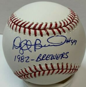 Brewers Pitcher DWIGHT BERNARD Signed Official MLB Baseball AUTO W 1982 Brewers $32.99