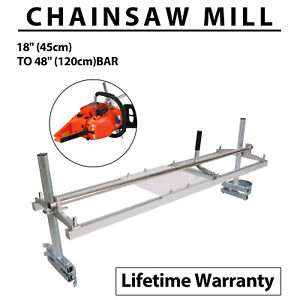 Portable Chainsaw mill 48 Inch Planking Milling Bar Size 18 to 48