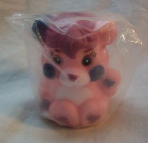 1986 VINTAGE Popples PINK PARTY POPPLE PLASTIC FINGER PUPPET 2quot; Toy NEW $15.00