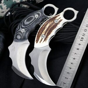 6.3Scorpion KARAMBIT Bowie KNIFE Survival Hunting Camping Fixed Blade w sheath $14.95
