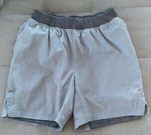 Skora Running Shorts Size Medium Gray Black Lined Under Shorts $15.00