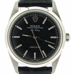 Rolex Air King Mens Stainless Steel Watch Sapphire Crystal Black Band Dial 14000 $3771.98